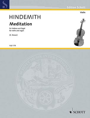 Paul Hindemith - Meditation - Violon et Orgue - Partition - di-arezzo.fr