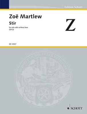 Stir - Violoncelle Solo - Zoë Martlew - Partition - laflutedepan.com
