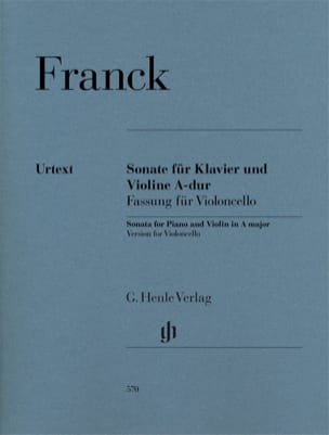 César Franck - Sonate in Dur - Cello und Klavier - Noten - di-arezzo.de