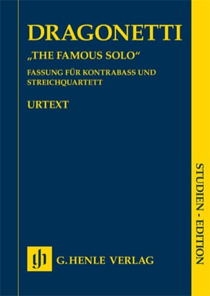 Domenico Dragonetti - The Famous Solo - Urtext - Partition - di-arezzo.fr