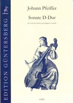 Johann Pfeiffer - D-Dur Sonata for Viola da Gamba - Sheet Music - di-arezzo.com