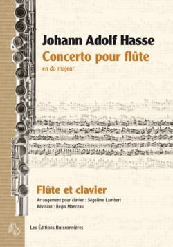 Concerto pour Flûte en Do Majeur Johann Adolph HASSE laflutedepan