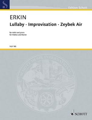 Ulvi Cemal Erkin - Lullaby / Improvisation / Zeybek Air - Partition - di-arezzo.fr