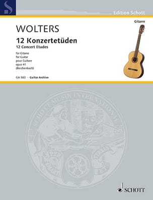 Burkhard Wolters - 12 Konzertetüden, op. 41 - Sheet Music - di-arezzo.co.uk