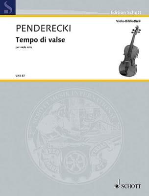 Krzysztof Penderecki - Tempo di valse - Partition - di-arezzo.fr