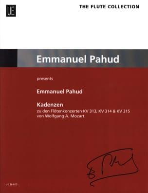 Emmanuel Pahud - Cadences - Flûte - Partition - di-arezzo.fr