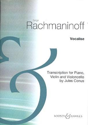 Vocalise RACHMANINOV Partition Trios - laflutedepan