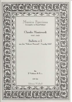 Balletto à 3 - Claudio Monteverdi - Partition - laflutedepan.com