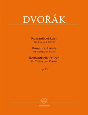 DVORAK - Romantic Pieces, Op. 75 - Sheet Music - di-arezzo.com