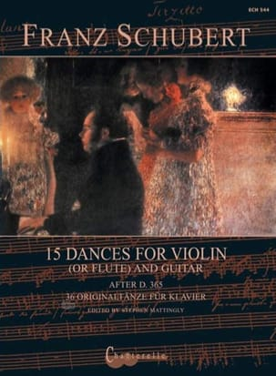 Franz Schubert - 15 Danses Originales - Violon et Guitare - Partition - di-arezzo.fr