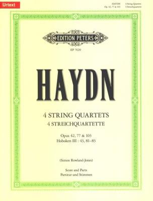 Quatuors à Cordes - Opus 42, 77 et 103 - HAYDN - laflutedepan.com