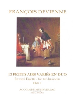 Francois Devienne - 12 Small Varied Airs In Duo Volume 1 - Sheet Music - di-arezzo.com