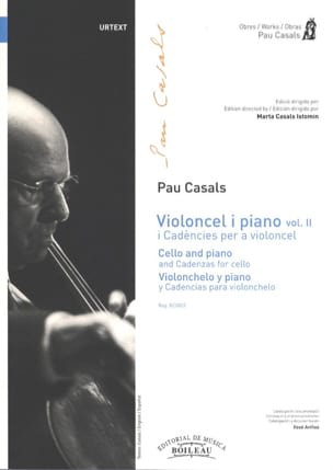 Pablo Casals - Violoncel and Piano Vol 2 I Cadencies by a Violoncello - Sheet Music - di-arezzo.com