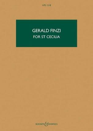 Gerald Finzi - For St Cecilia, opus 30 - Partition - di-arezzo.fr