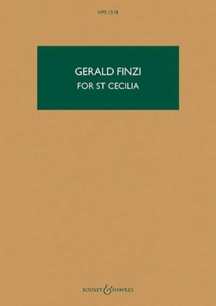 For St Cecilia, opus 30 Gerald Finzi Partition laflutedepan