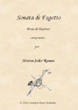 Ramos Mateo Soler - Sonata de Fagotto - Bassoon and BC - Sheet Music - di-arezzo.com