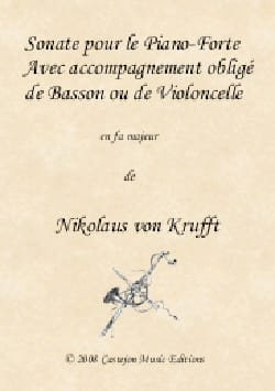 Nikolaus von Krufft - Sonata in F Major - Bassoon and Piano - Sheet Music - di-arezzo.com