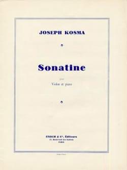 Joseph Kosma - Sonatine - Partition - di-arezzo.fr