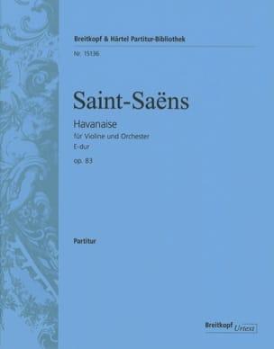 Havanaise, opus 83 - Conducteur - laflutedepan.com