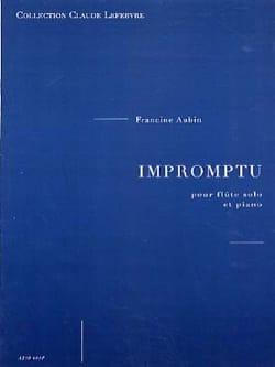 Impromptu Francine Aubin Partition Flûte traversière - laflutedepan