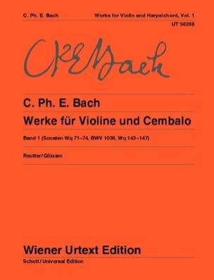 Carl Philipp Emanuel Bach - Oeuvres pour violon et clavecin - Volume 1 - Partition - di-arezzo.fr