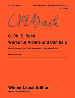 Carl Philipp Emanuel Bach - Oeuvres pour violon et clavecin - Volume 2 - Partition - di-arezzo.fr