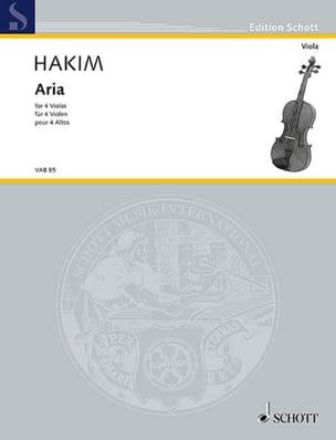 Naji Hakim - Aria - 4 altos - Partition - di-arezzo.fr