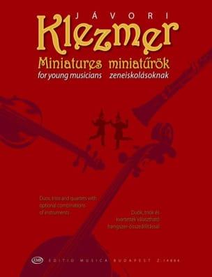 Ferenc Javori - Klezmer Miniatures - Partition - di-arezzo.fr