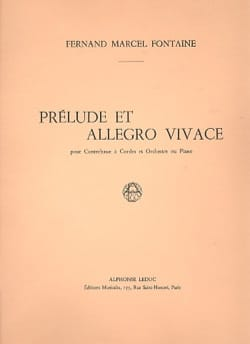 Fernand-Marcel Fontaine - Prelude and Allegro Vivace - Sheet Music - di-arezzo.co.uk