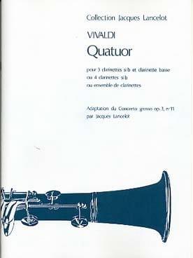 Quatuor VIVALDI Partition Clarinette - laflutedepan