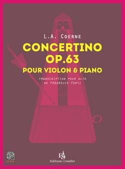 Louis-Adolphe Coerne - Concertino, Opus 63 - Alto and Piano - Sheet Music - di-arezzo.com