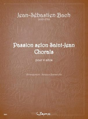 BACH - Passion according to Saint John Chorals - 4 violas - Sheet Music - di-arezzo.co.uk