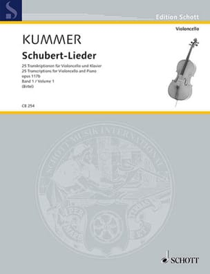 Friedrich August Kummer - Schubert Lieder, op. 117b - Volume 1 - Partition - di-arezzo.fr