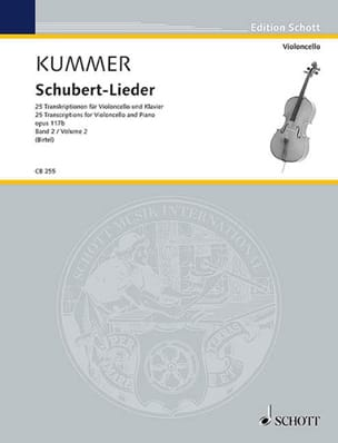 Friedrich August Kummer - Schubert Lieder, op. 117b - Volume 2 - Sheet Music - di-arezzo.co.uk