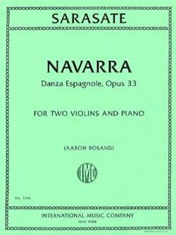 Pablo de Sarasate - Navarra, opus 33 - Partition - di-arezzo.fr