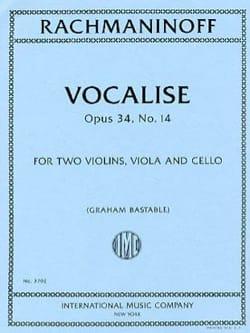 RACHMANINOV - Vocalise, Opus 34 Nr. 14 - Streichquartett - Noten - di-arezzo.de