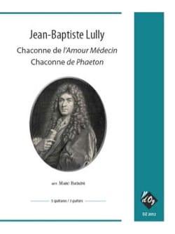 Chaconne de l'Amour Médecin Jean-Baptiste Lully Partition laflutedepan
