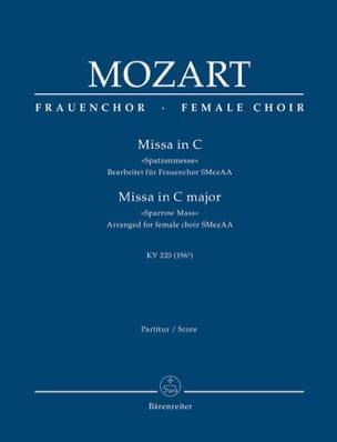 Messe en Ut Majeur, Kv 220 - Conducteur - MOZART - laflutedepan.com