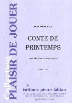 Conte de Printemps - Max Méreaux - Partition - laflutedepan.com