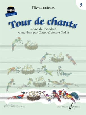 Tour de Chants Volume 9 - Jean-Clément Jollet Partition laflutedepan