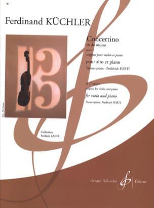 Ferdinand Küchler - Concertino en Do Majeur, opus 11 - Partition - di-arezzo.ch