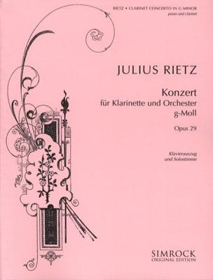 Julius Rietz - Clarinet Concerto Op. 29 - Partition - di-arezzo.fr