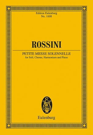 Gioacchino Rossini - Petite Messe solennelle - Partition - di-arezzo.fr