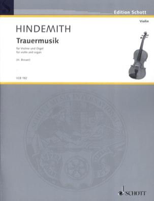 Trauermusik - Violon et orgue - Paul Hindemith - laflutedepan.com