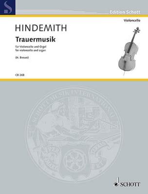 Paul Hindemith - Trauermusik - Violoncelle et Orgue - Partition - di-arezzo.fr