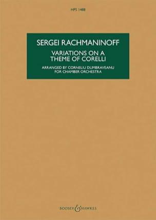 Variations sur un thème de Corelli, opus 42 RACHMANINOV laflutedepan