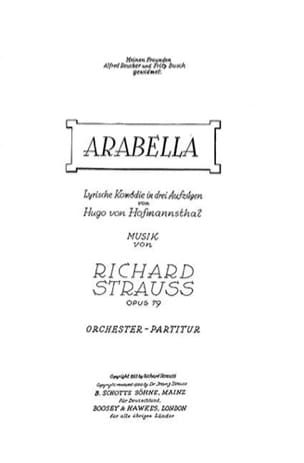 Richard Strauss - Arabella - Sheet Music - di-arezzo.co.uk