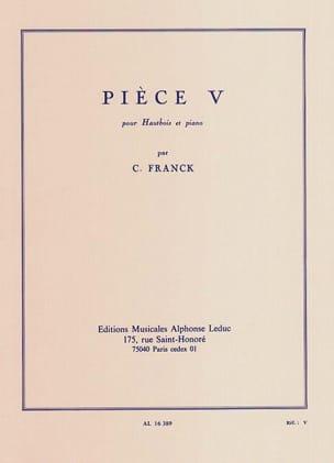 César Franck - Pièce V - Partition - di-arezzo.fr
