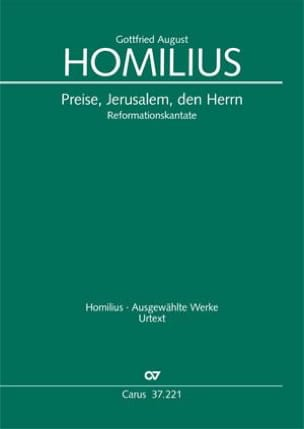 Gottfried August Homilius - Preise, Jerusalem, den Herrn - Partition - di-arezzo.fr