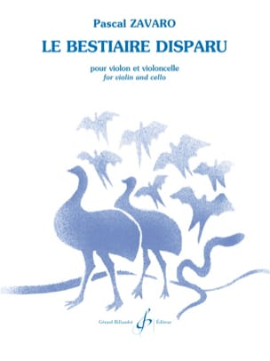 Pascal Zavaro - The missing bestiary - Sheet Music - di-arezzo.com